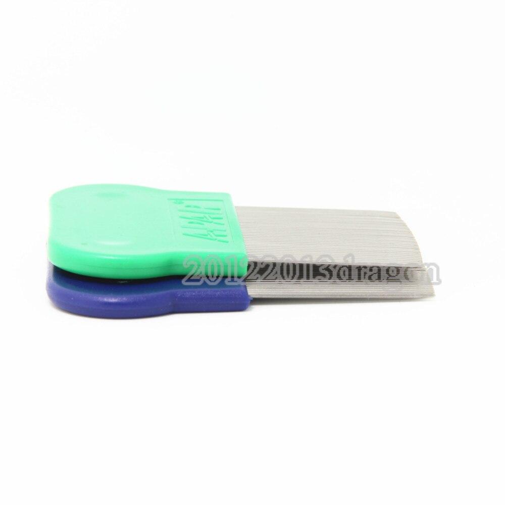 Купить с кэшбэком Pack of 2 PiecesTerminator Lice Comb Kids Hair Rid Headlice stainless steel Metal Teeth Net Flea comb nit brush
