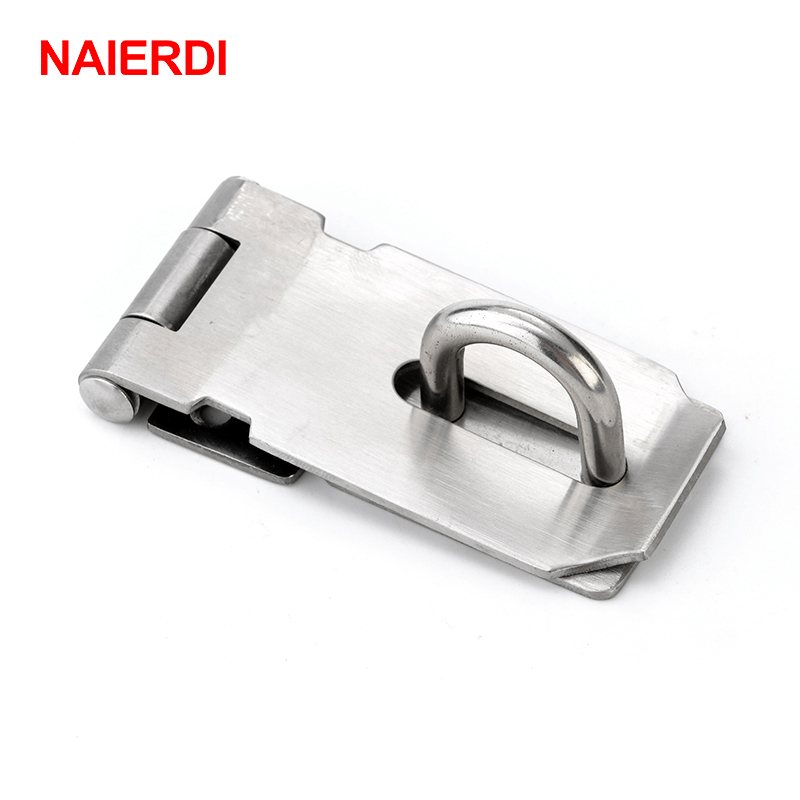 "Solid Brass Hasp /& Staple//Door//Cupboard//Gate//Shed//Latch//Lock//With Screws 2/"" 50mm"