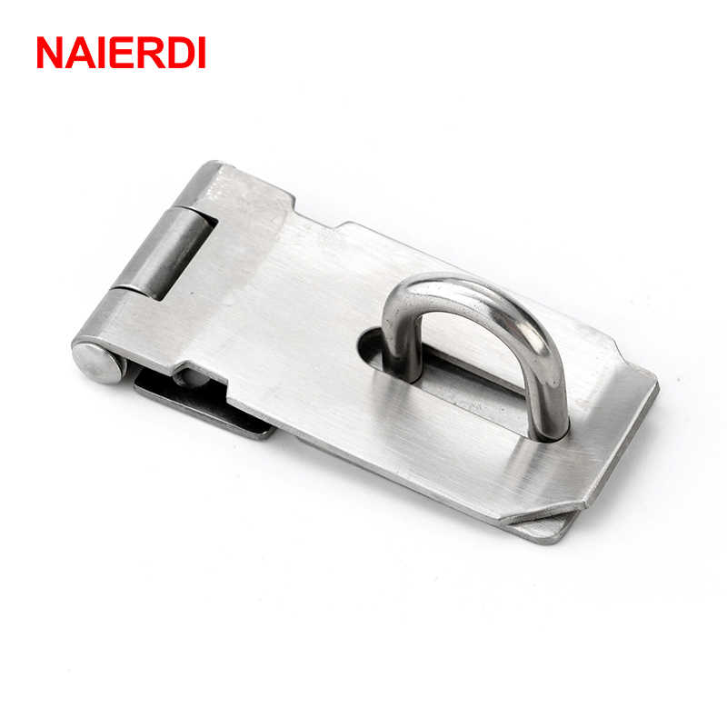 NAIERDI-J7 IRON Cabinet Box Hasp and Staple Lock Spring Latch Catch Toggle Locks For Sliding Door Window Furniture Hardware