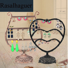 Top Metal Earring Srorage Earrings Organizer Fashion Cup Shape Heart Holder Jewelry Display Necklace Rack