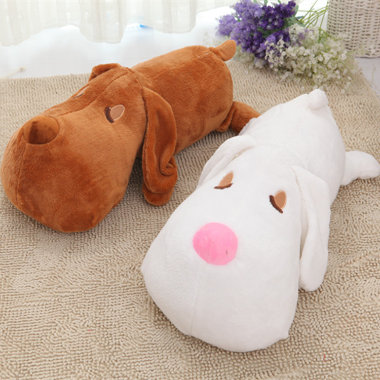 2017 New 60cm Plush Big Head Dog Toy Cute Animal Soft pillow Stuffed Brown White Doll Best Gift for Kids Children C64 hot 17cm janpanese animal plush toy alpaca vicugna pacos lama arpakasso alpacasso soft stuffed plush doll toy christmas gift
