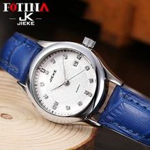 JK FOTINA Top Marca Moda Mujer Reloj de Cuarzo Del Deporte Del Reloj Fecha Correa de Cuero Rojo Reloj de Señoras Reloj de Pulsera Relogio masculino
