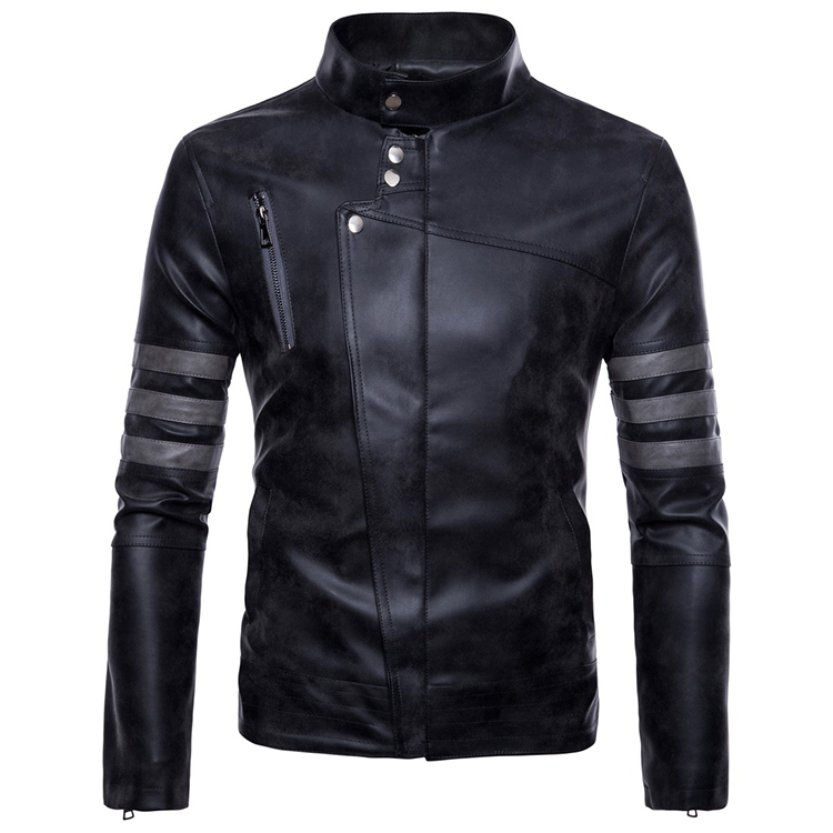 Mens Making-replica Leather Jacket Mens Wear Retro Locomotive Pu Leather Jaqueta Masculinas Inverno Couro Jacket Plus Size