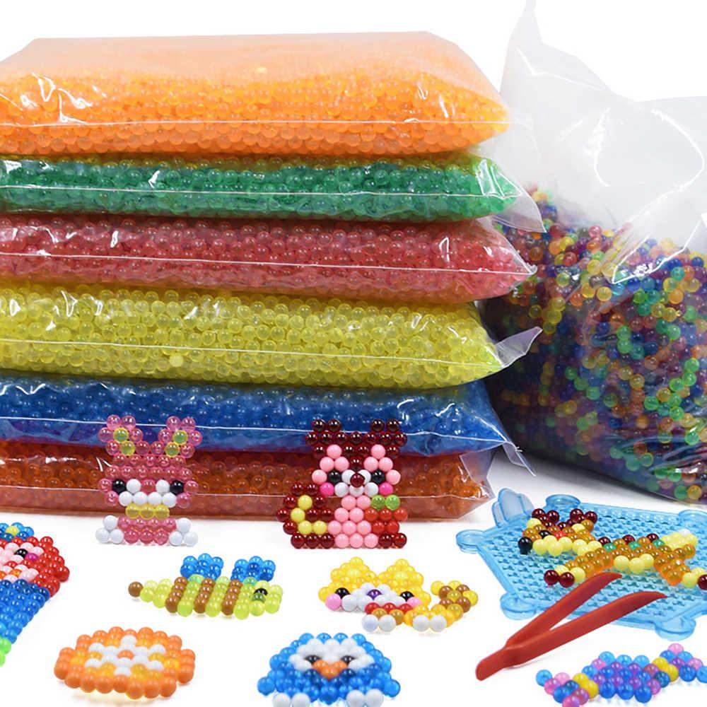 24 Warna 500Pcs 5 Mm Semprotan Air Beads DIY 3D Teka-teki Mainan Hama Manik-manik Sihir Manik-manik Pendidikan Hadiah Air perlen Belajar Mainan Anak