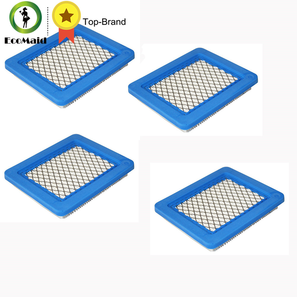 цена на 4pcs Air Filter Replacement for Briggs & Stratton 491588 491588S 4915885 399959 Filter Lawn Mower Accessory