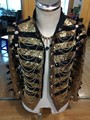 Fashion Men Gold Sequins Slim Casual Jacket Male DJ Singer Stage Performance Prom Punk Ds Costumes England Style Outerwear