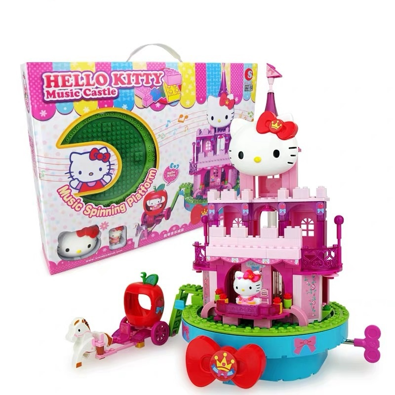 1set Hello Kitty Childrens Creative Puzzle Assembly Building Block Girls Home Toys Hello Kitty Music Castle Girls quality gift1set Hello Kitty Childrens Creative Puzzle Assembly Building Block Girls Home Toys Hello Kitty Music Castle Girls quality gift