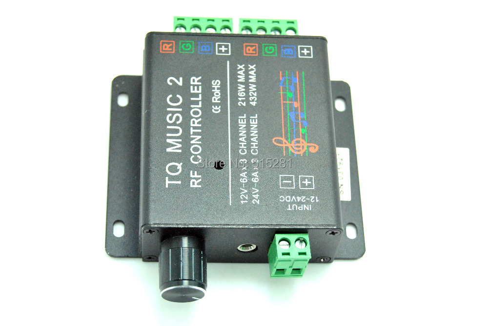 ФОТО BSOD Music  RGB LED Controller DC12-24V 18A Wireless RF With Dual Output Channel