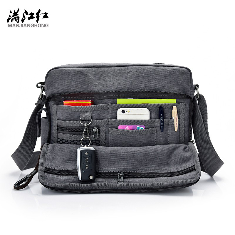High Quality Multifunction Men Canvas Single Shoulder Bag Casual Travel Bolsa Masculina Men's Crossbody Bag Men Messenger Bag high quality casual men bag