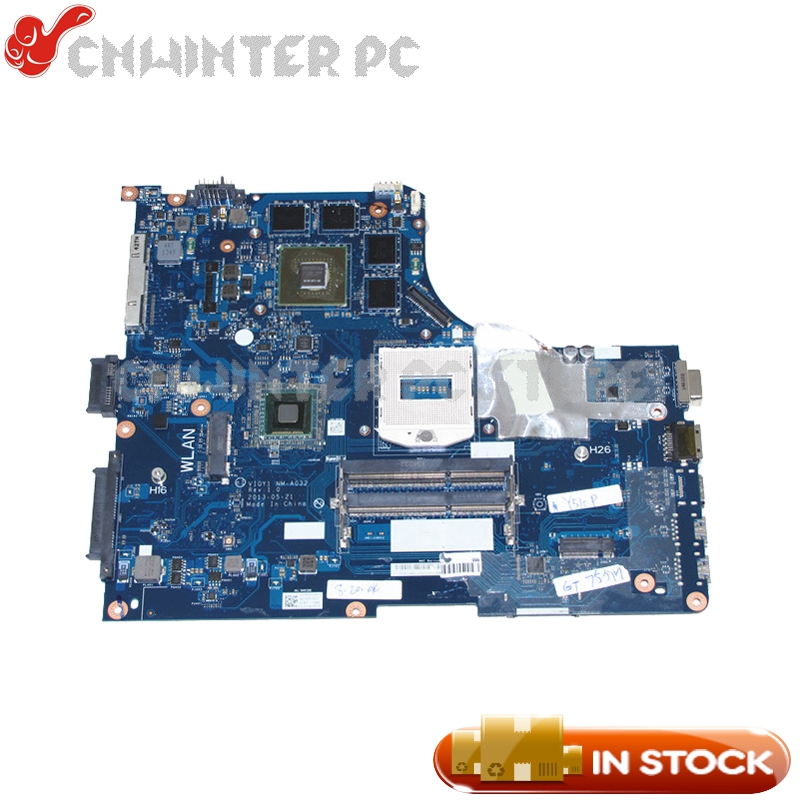 NOKOTION AIQY1 NM-A032 Main Board For Lenovo ideapad Y510P Laptop motherboard HM86 DDR3L GT755M Video Card