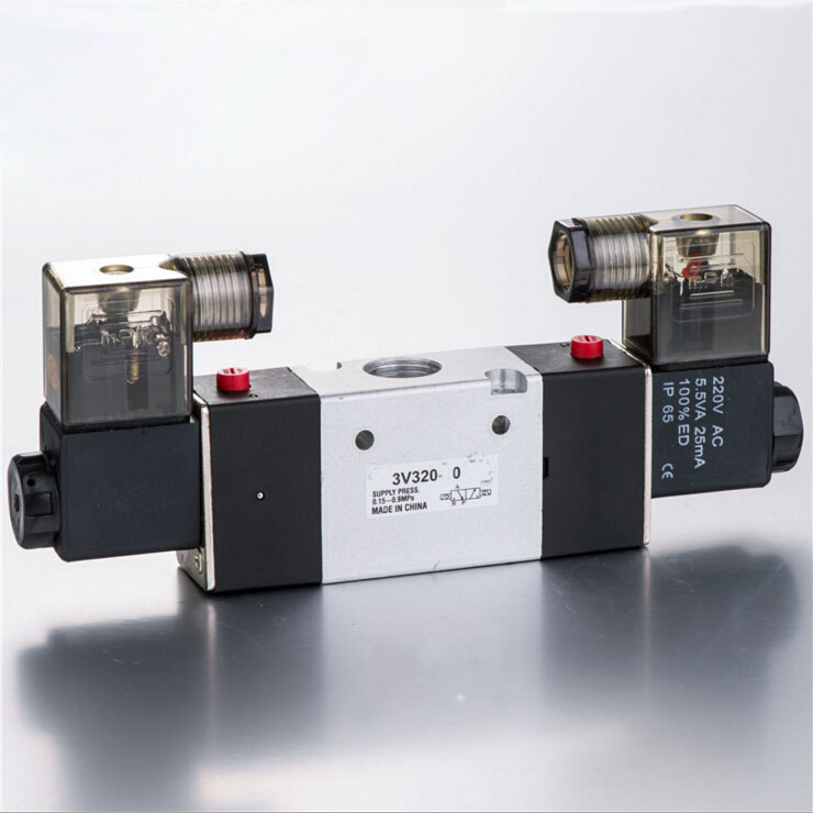 Solenoide Valvula Boutique Solenoid Valve 3V320-10,1/4,24V DC ,2 position 3 way Solenoid Valve direct acting normally closed type solenoide valvula brass valve ac220v vx2120 15 1 2 pneumatic solenoid valve vx series 2 way
