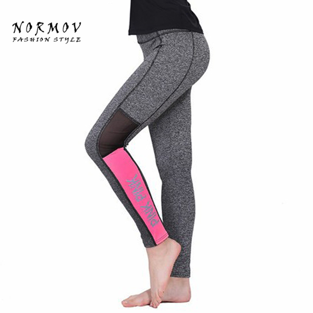 S-XL Women's Leggings Fashion Pink Letter Print Workout Leggings Women Sportswear High Waist Winter Gray Leggings Women