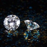 TransGems 8 мм 2 карат F Цвет сертифицированные Лаборатории Grown Муассанит Diamond Loose бисера Тесты положительный как настоящий бриллиант 1 кусок