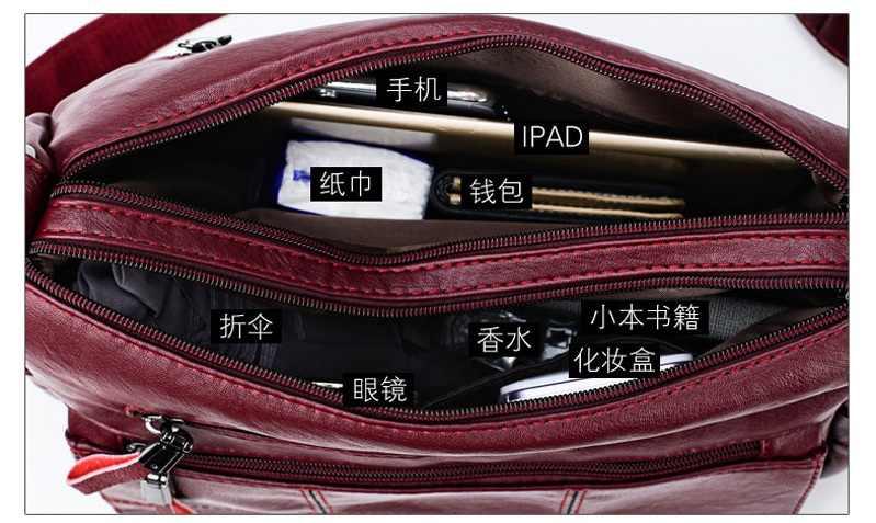 Mode femmes en cuir véritable sacs à main momie sac décontracté sacs à bandoulière dames sacs à bandoulière Vintage sacs de messager N365