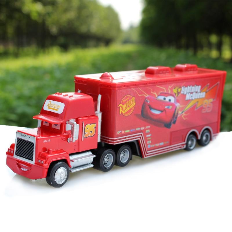 Pixar Cars Diecast No.95 Mack Racer's Truck Metal Toy Car For Children 1:55 Brand New In Stock McQueen Alloy Car Model Toy