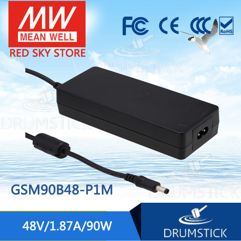 100% Original MEAN WELL GSM90B48-P1M 48V 1.87A meanwell GSM90B 48V 90W AC-DC High Reliability Medical Adaptor 1mean well original gsm160a24 r7b 24v 6 67a meanwell gsm160a 24v 160w ac dc high reliability medical adaptor