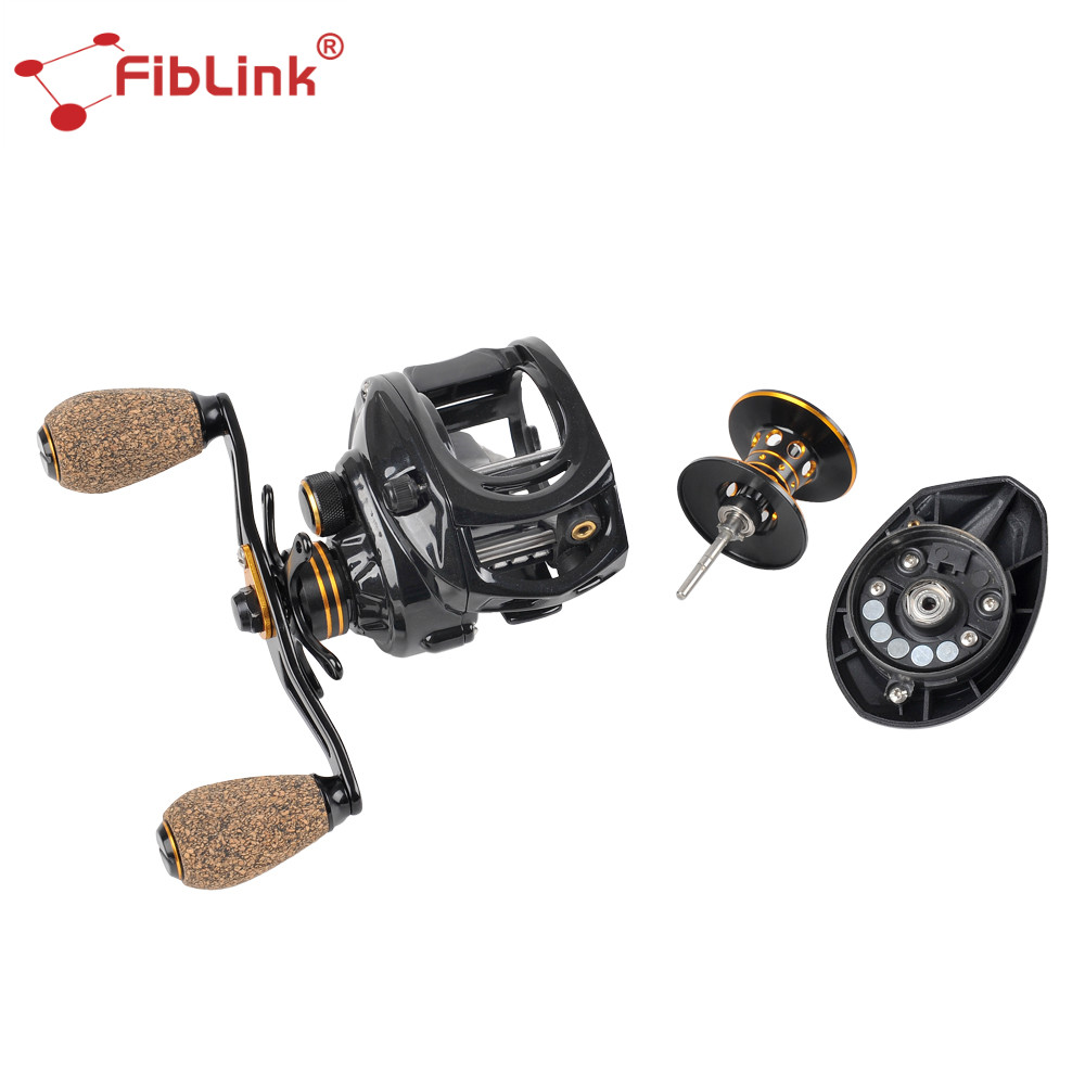 Fiblink 6.4:1 High Speed Baitcasting Fishing Reel 10 <font><b>BBs</b></font> Moulinet Casting Reel Magnetic Braking System w/ NMB <font><b>Ball</b></font> Bearings Reel image