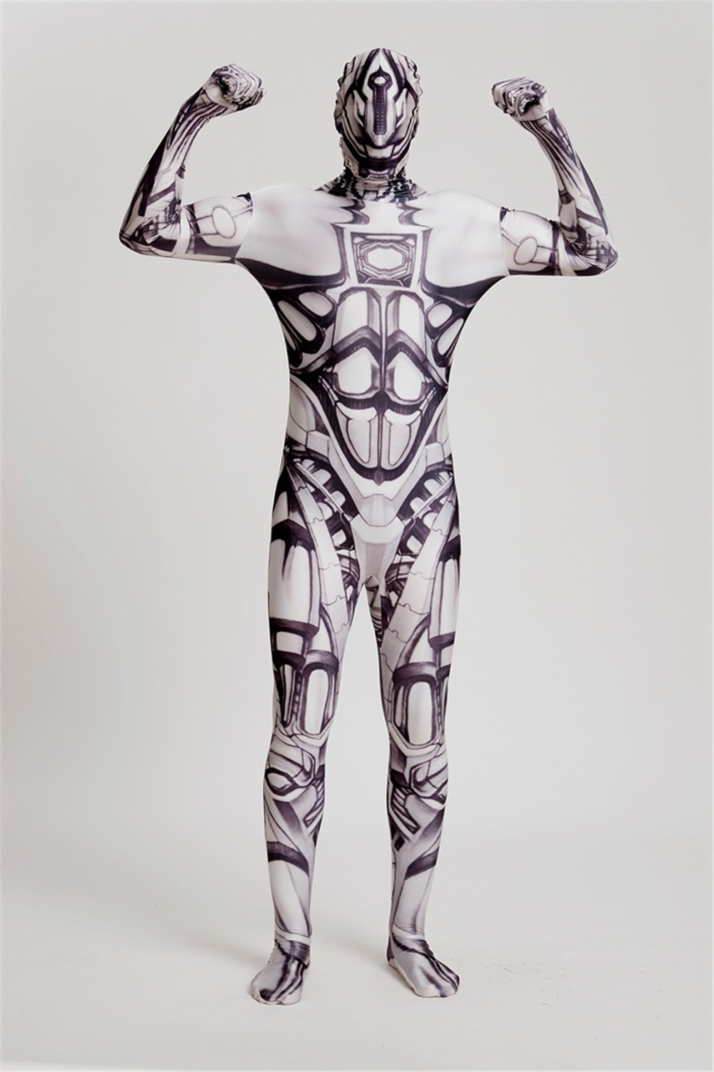 Movie RoboCop costume Pope Cosplay halloween costumes for men adult costumes suits clothing RoboCop Max Steel Jumpsuits