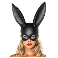 Black Cartoon Characters Women Party Mask Masquerade Rabbit Mask Sexy Bondage Bunny Long Ears Carnival Halloween
