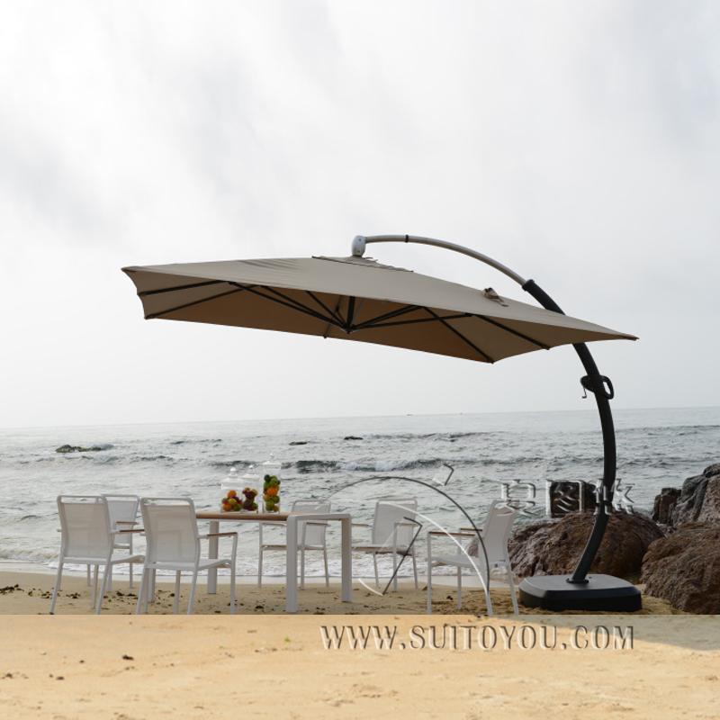 metros de aluminio deluxe sombrilla sombrilla sombrilla de jardn patio al aire libre