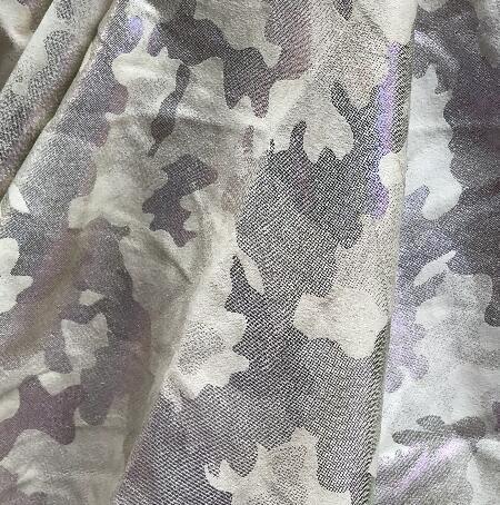 137CM Grey-white fluorescent camouflage pu leather fabrics, clothes, Digital City textiles diy fabrics c653