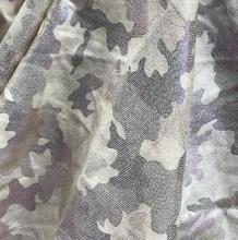 137CM Grey-white fluorescent camouflage pu leather fabrics, clothes, Digital City textiles diy fabrics c653