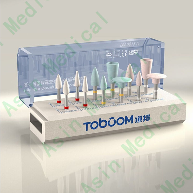 Dental Teeth Polishing Polish Kit For Composite 12PCS RA0312D Clinics Dentists dental kerr finishing polishing assorted kit occlubrush cup brushes