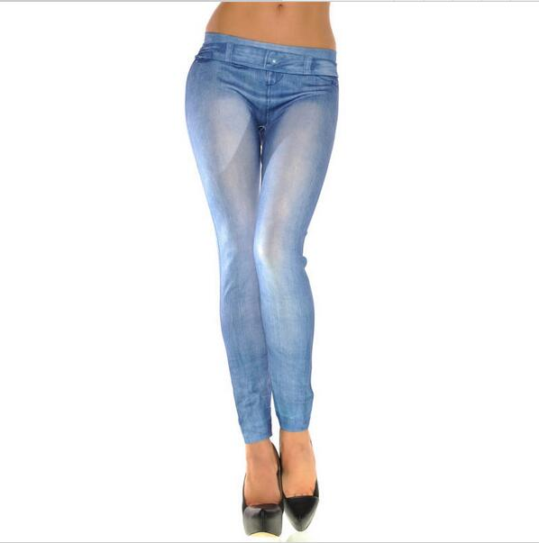 Skinny Soft Tights Stretch Pants Solid Color High Waist QPD000118