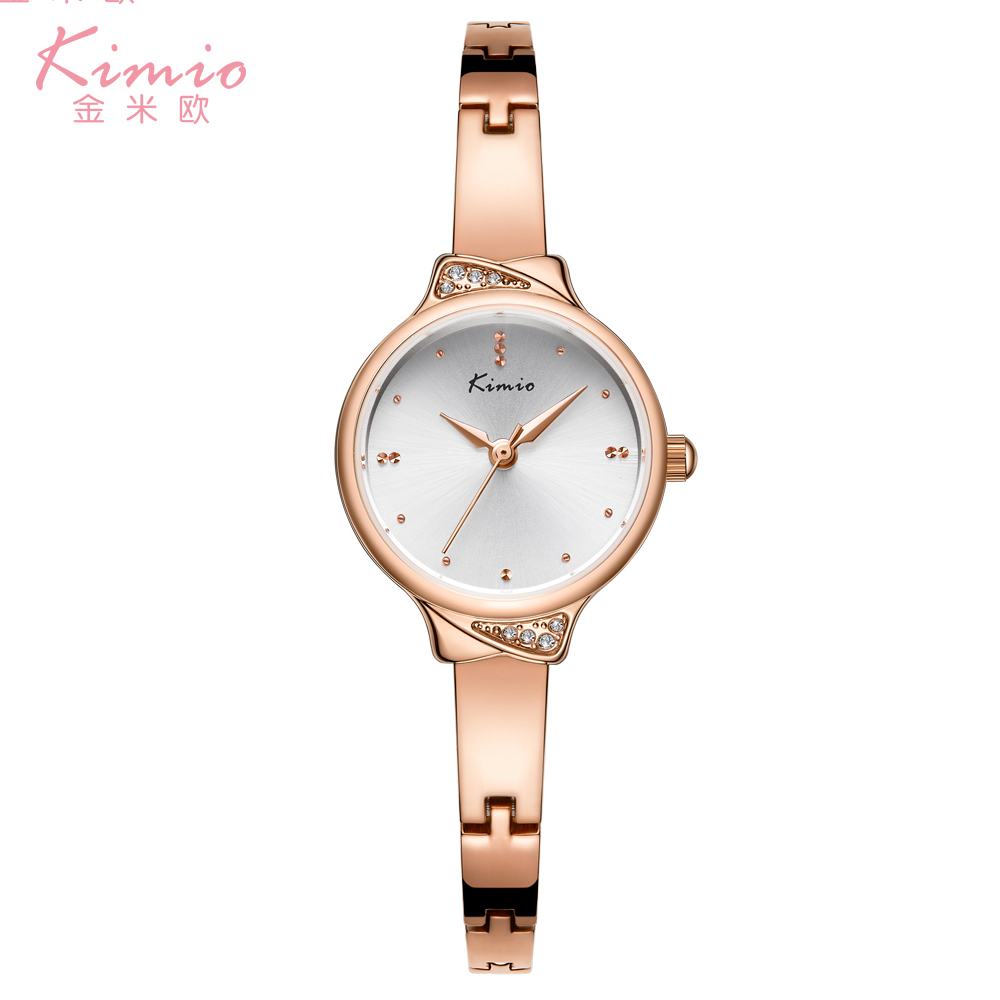 Top Brand KIMIO New Crystal Watch Women Bracelet Luxury Womens Watches Ladies Small Dial Rose Quartz Watch Gold Relogio Feminino лонгслив catimini catimini ca053ebvcq33
