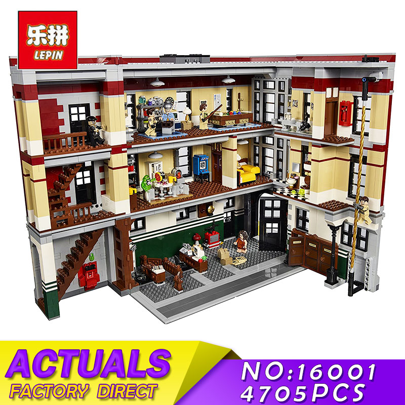 LEPIN 16001 4695Pcs Ghostbusters Firehouse Headquarters Model Building Blocks Bricks Compatible 45827 Educational Children Toys цены