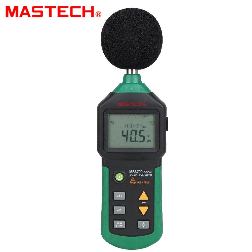 MASTECH MS6700 Industrial Grade LCD Digital Display Digital Sound Level Meter Noise Meter DB Meter Automatic Range 30dB ~ 130dB