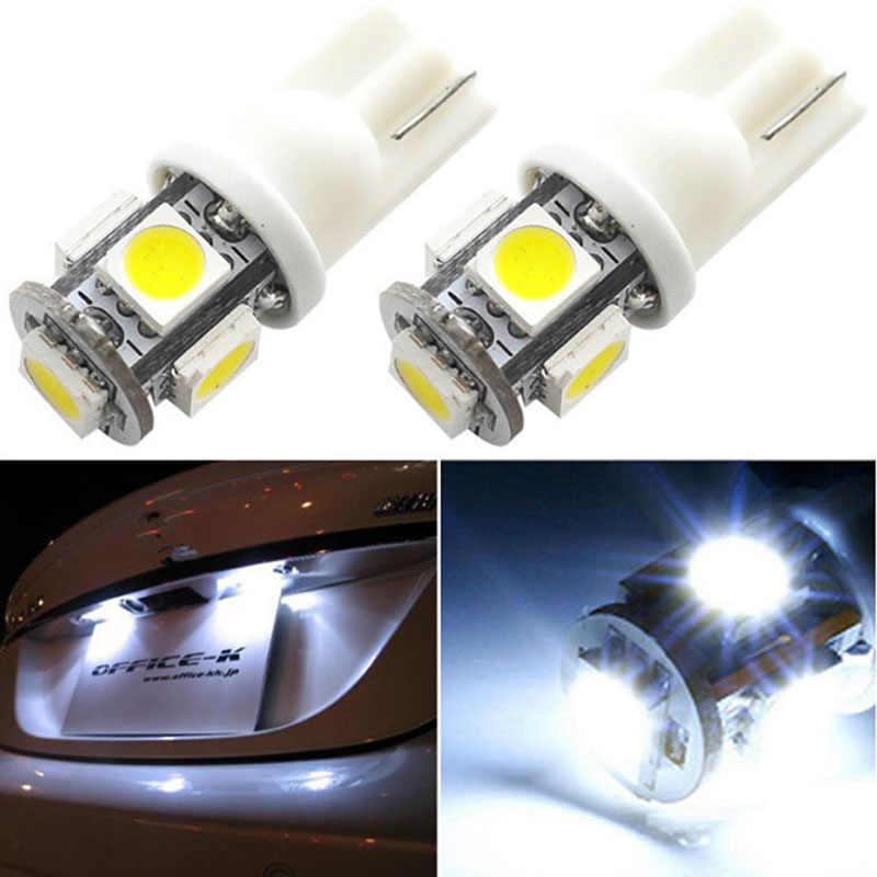 1 шт. T10 светодиодный W5W 5050 5 SMD 194 168 светодиодный белый/синий/красный/зеленый/желтый клиновидный для салона сбоку на приборную панель, для номерного свет лампы стайлинга автомобилей