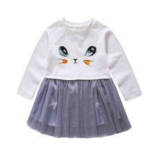 Baby Girls Dress Long-Sleeve White Winter Dresses For Kids Children Clothes For Kids Clothes