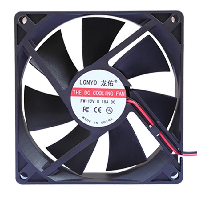 9cm DC 12 V  chassis fan, desktop computer cooling fan, 9CM fan power fan, mute large air volume