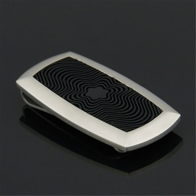 Wholesales Latest design men's stainless steel money clip with rubber high quality free shipping