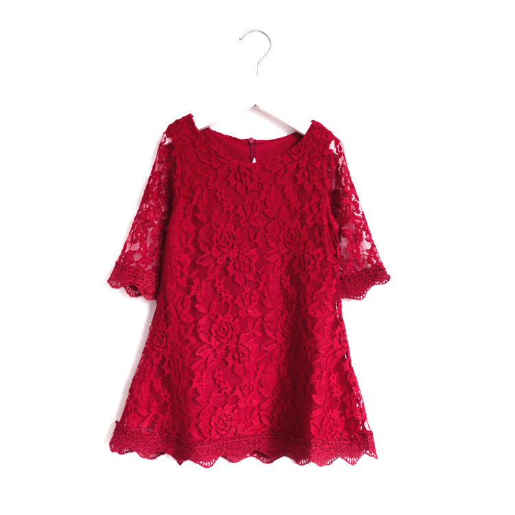 Baby Girl dress summer short sleeve white red pink Lace clothes size 2 3 4 5 6 7 8 9 10 11 12 13 14 15 16 years teenager girls girl dress autumn white long sleeved clothes korean cotton size 4 5 6 7 8 9 10 11 12 13 14 years kids blue lace princess dress