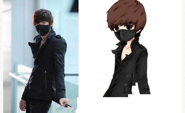 Unisex Black Mouth Mask Cotton Anti Dust Protective Double Fashion Mask Washable Many Times Using Year Available
