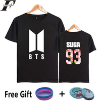 LUCKYFRIDAYF BTS Kpop Tee Shirt Women Short Sleeve Popular Bangtan Hip Hop Woman Tshirt Top Summer