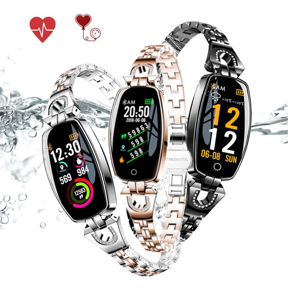 Montre de traqueur de forme physique des femmes, KENCOOL imperméable à l'eau HR activité Tracker montre intelligente Sport podomètre bijoux Sport dame bracelet