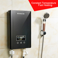 8KW Household Instant / Tankless Electric Water Heaters Instant shower thermostat Heating waterproof with Stainless steel liner