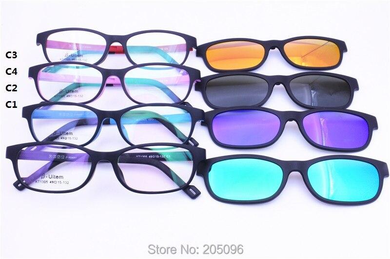 5127e3ad5520 Original design 1305 ULTEM rectangle prescription glasses with megnatic  clipping on polarized lenses handy eyewear for teenagers on Aliexpress.com