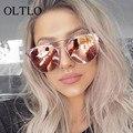 OLTLO 2017 Novos Óculos de metal quadro Óculos De Sol Ao Ar Livre Marca Original Óculos De Sol Das Mulheres Óculos Moda Shades Revestimento de luxo