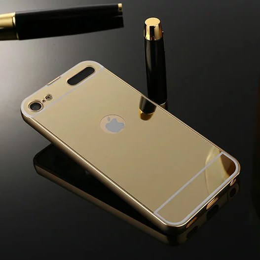 new arrival 09ece 80e89 US $4.99  Luxury Mirror Back Cover Case For Apple iPod Touch 6 4.0inch  Ultra Thin Aluminum Metal Frame Acrylic Cover JM02-in Phone Bumper from ...