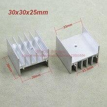 (20 шт./лот) Алюминий Белый Радиатор Радиатор Радиатор С 2 Pins 30 мм * 30 мм * 25 мм Для интегральной схемы IC МОП-Транзистор
