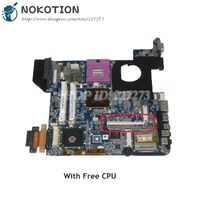 NOKOTION DATE1MMB8E0 Laptop Motherboard For Toshiba Satellite U400 MAIN BOARD GM45 DDR2 Free cpu with graphics slot