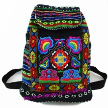 Tribal Vintage Hmong Thai Indian Ethnic Boho rucksack Boho hippie ethnic bag, backpack bag L size SYS-170