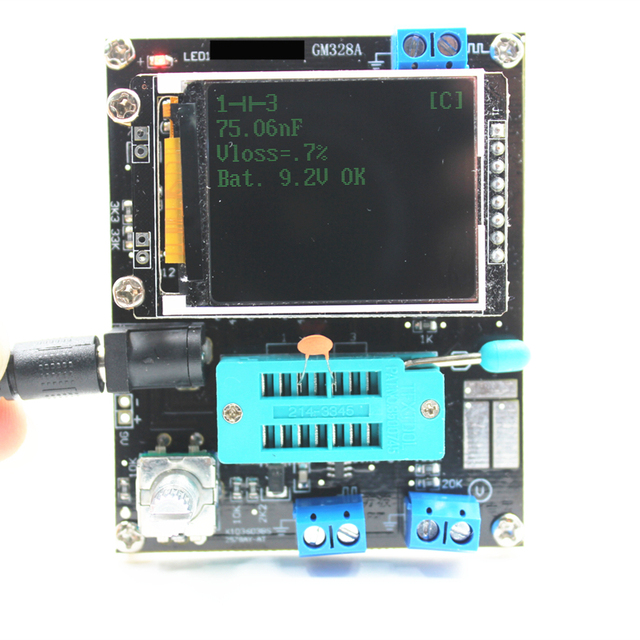 Multi-purpose transistor tester with color display 5