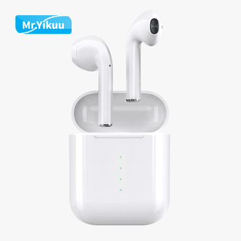 i100 TWS Wireless Headphone Bluetooth 5.0 Stereo Sound Earphone supports Wireless Charger Pad with Charging Box for IOS Android