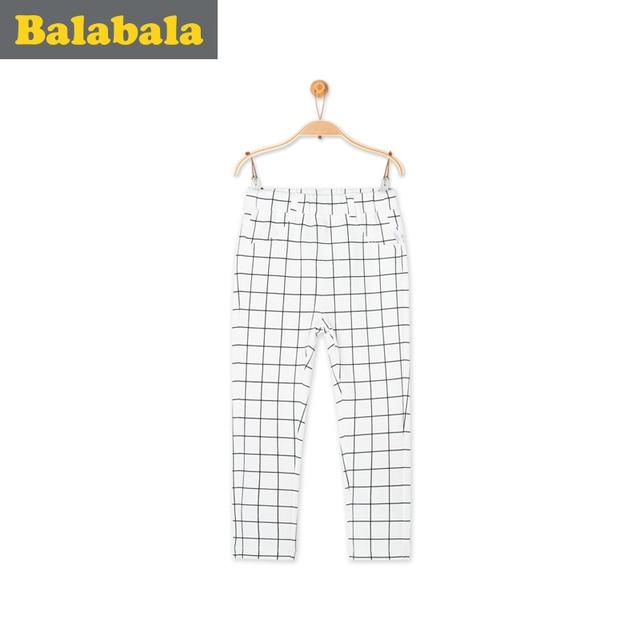 Balabala Primavera de 2018 de Niños de moda de verano de las niñas pantalones Color caramelo lápiz pantalones de los niños pantalones de algodón de fondo