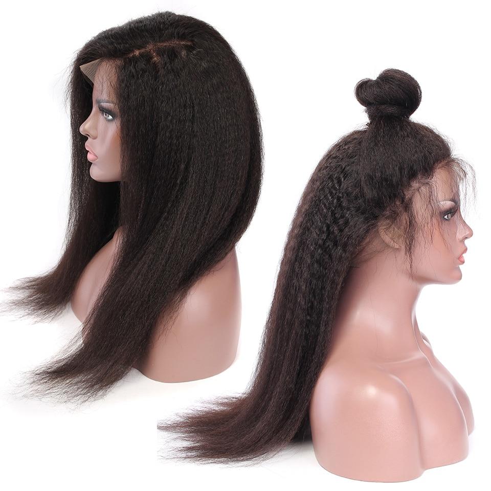 YVONNE Kinky Straight Lace Front Mänskliga Hårperor För Svarta - Mänskligt hår (svart) - Foto 5